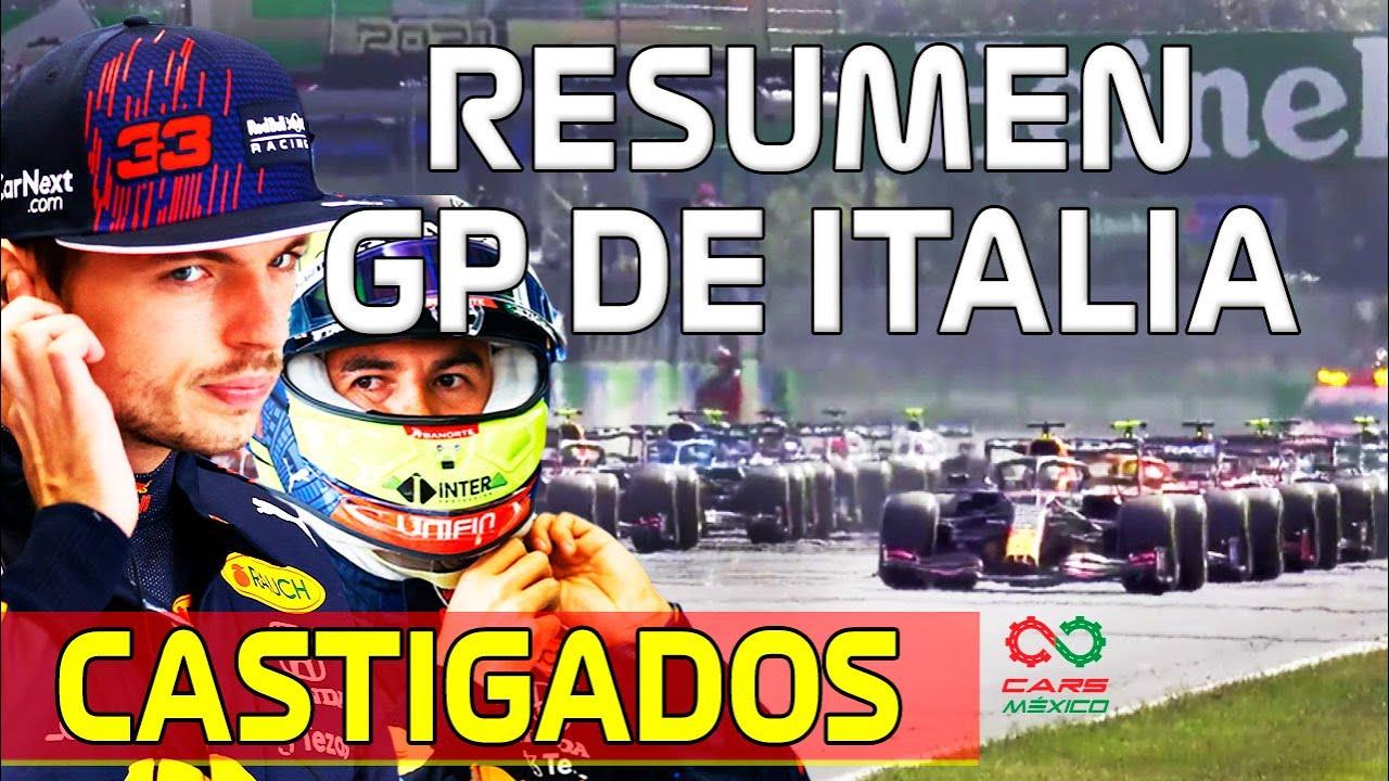 !! CASTIGADOS CHECO Y MAX Resumen Gran Premio de Italia F!