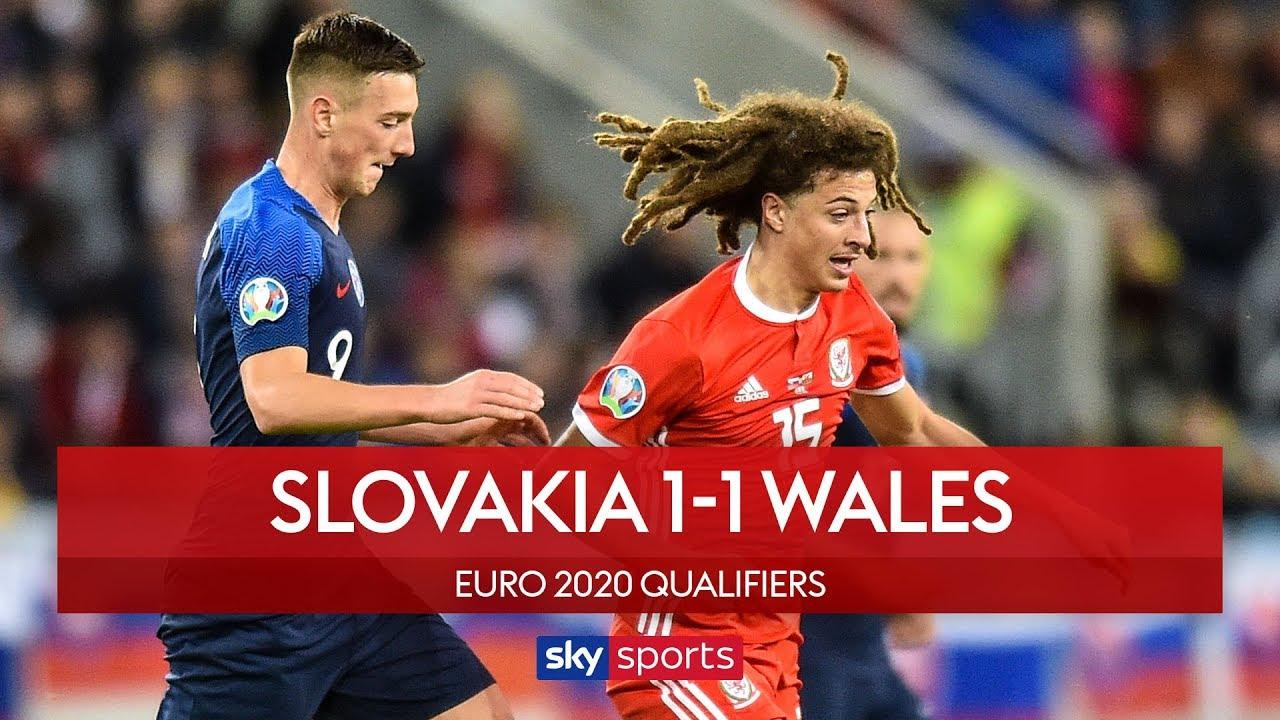 Wales pegged back in Slovakia | Slovakia 1-1 Wales | UEFA Euro 2020 Qualifiers