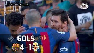 Gols - Barcelona 4 x 1 Villareal - La Liga 16-17