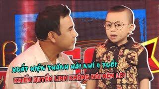 Xuất hiện thánh hài nhí 4 tuổi bản sao Trấn Thành khiến MC Quyền Linh không nói nên lời