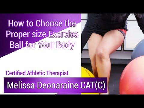 Choosing an Exercise Ball