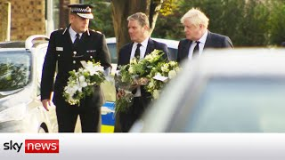Prime Minister lays a bouquet for murdered Conservative MP