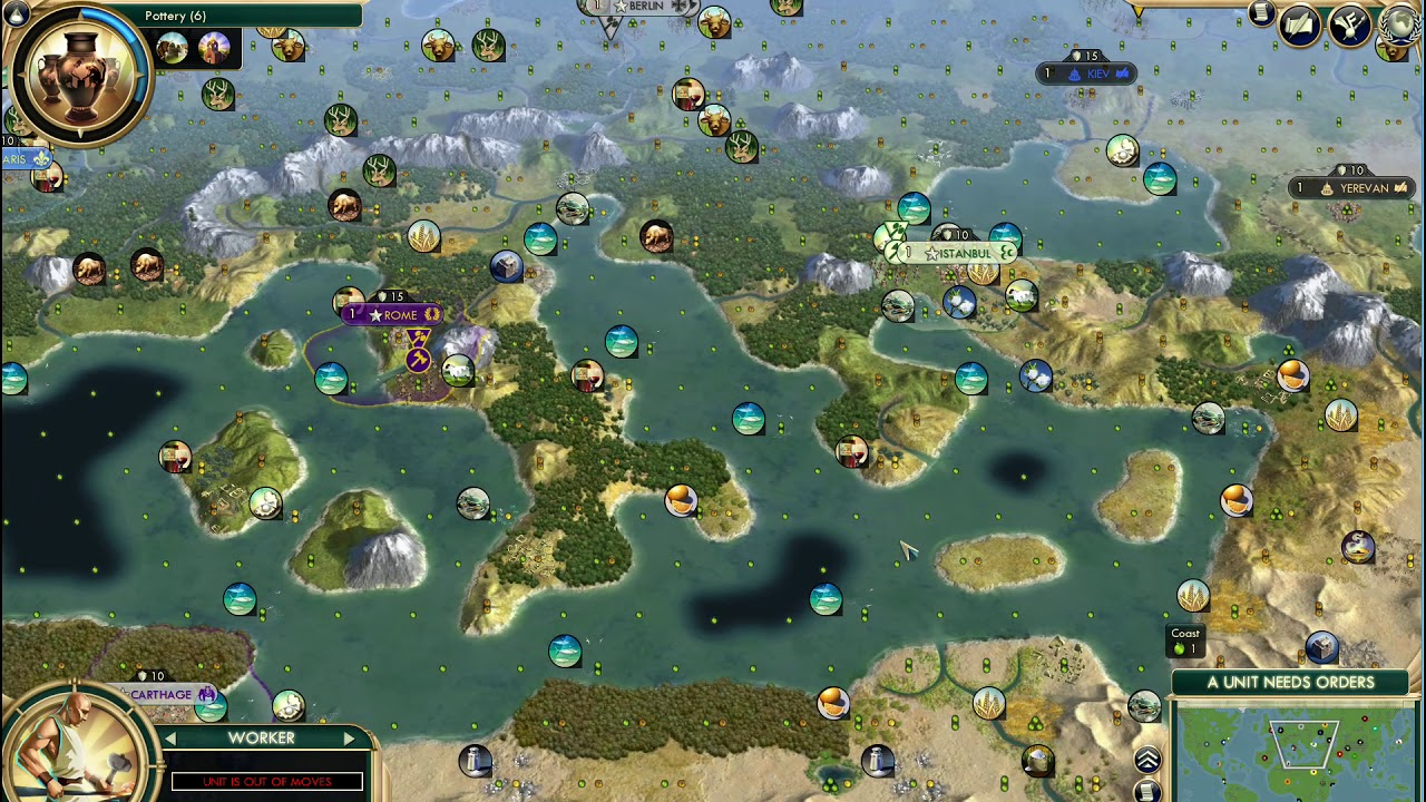 Civ 5 Greatest Earth TSL Map - YouTube Civ Earth Map on