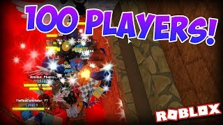 PLAYING FLOOD ESCAPE WITH 100 PLAYERS!!! | FEM on Roblox #2