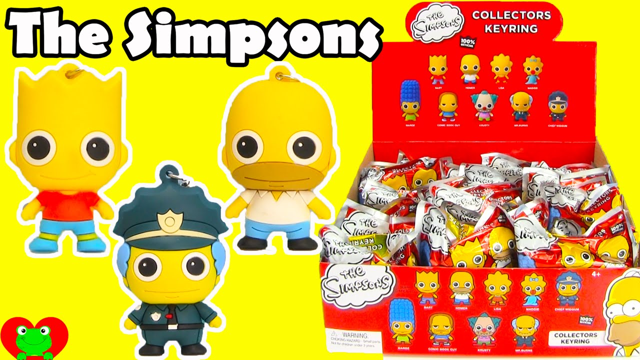 The Simpsons Collectors Keyrings Blind Bags Youtube