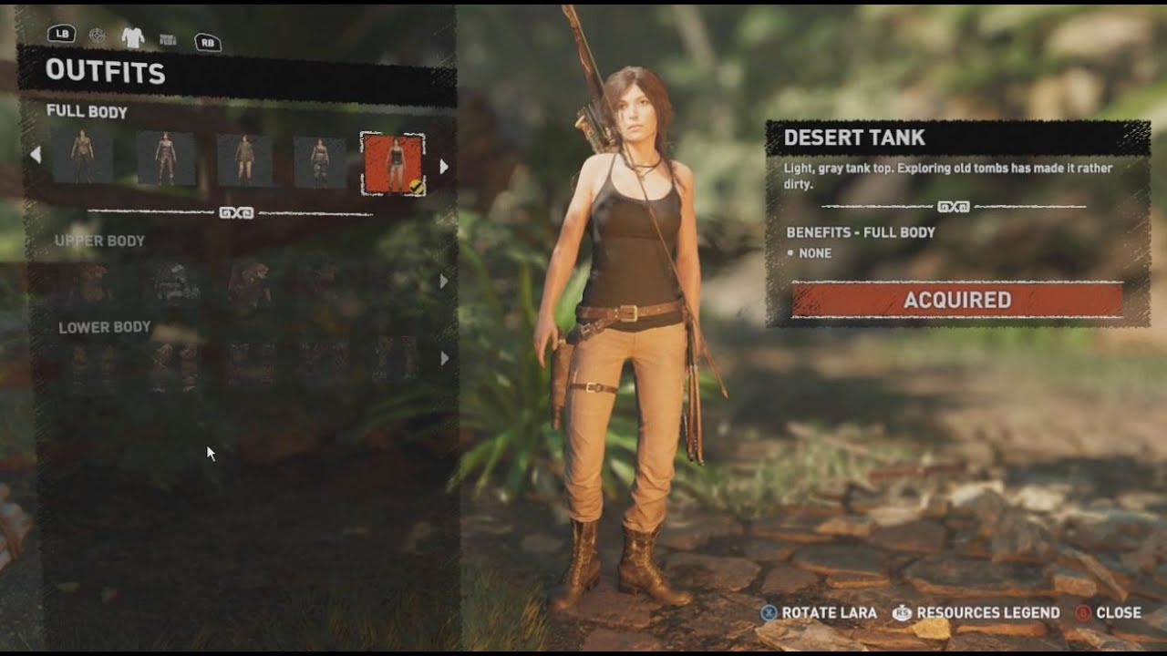 All Outfits Hack Shadow Of Tomb Raider Unlock Tr2013 Rotr