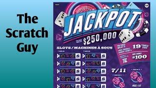 Jackpot Scratch Ticket   Top prize $250,000