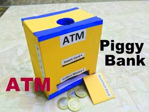 How to make piggy bank atm youtube for How to make a simple piggy bank