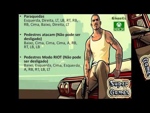 Cheats: Todos Os Códigos GTA San Andreas - XBOX