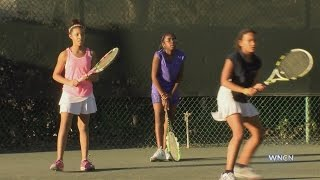 Durham girls make their mark in tennis