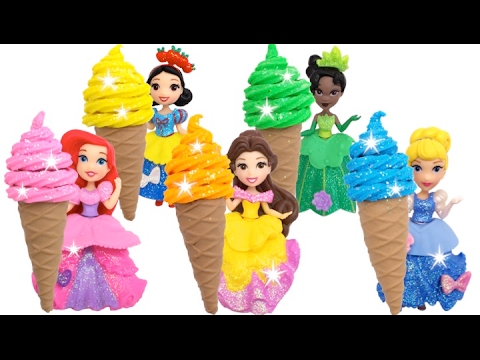Disney Princess Finger Family Song Learn Colors Play Doh