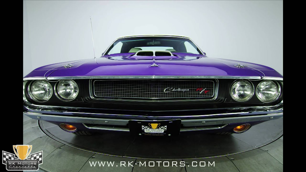 132263 1970 Dodge Hemi Challenger R T Convertible Youtube