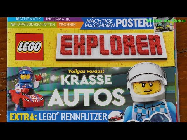 Lego, Explorer, Vollgas voraus! Krasse Autos, Juni 2021,  Meister der Steine