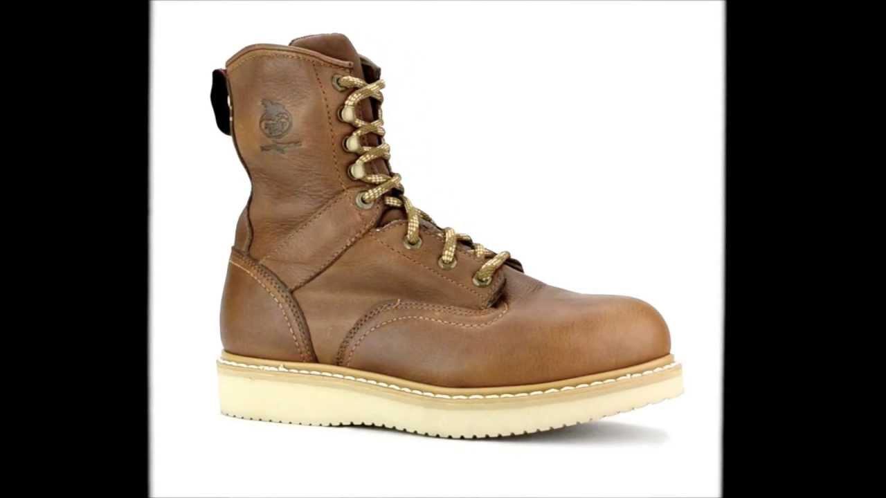 s boot g8342 steel toe wedge sole work boot