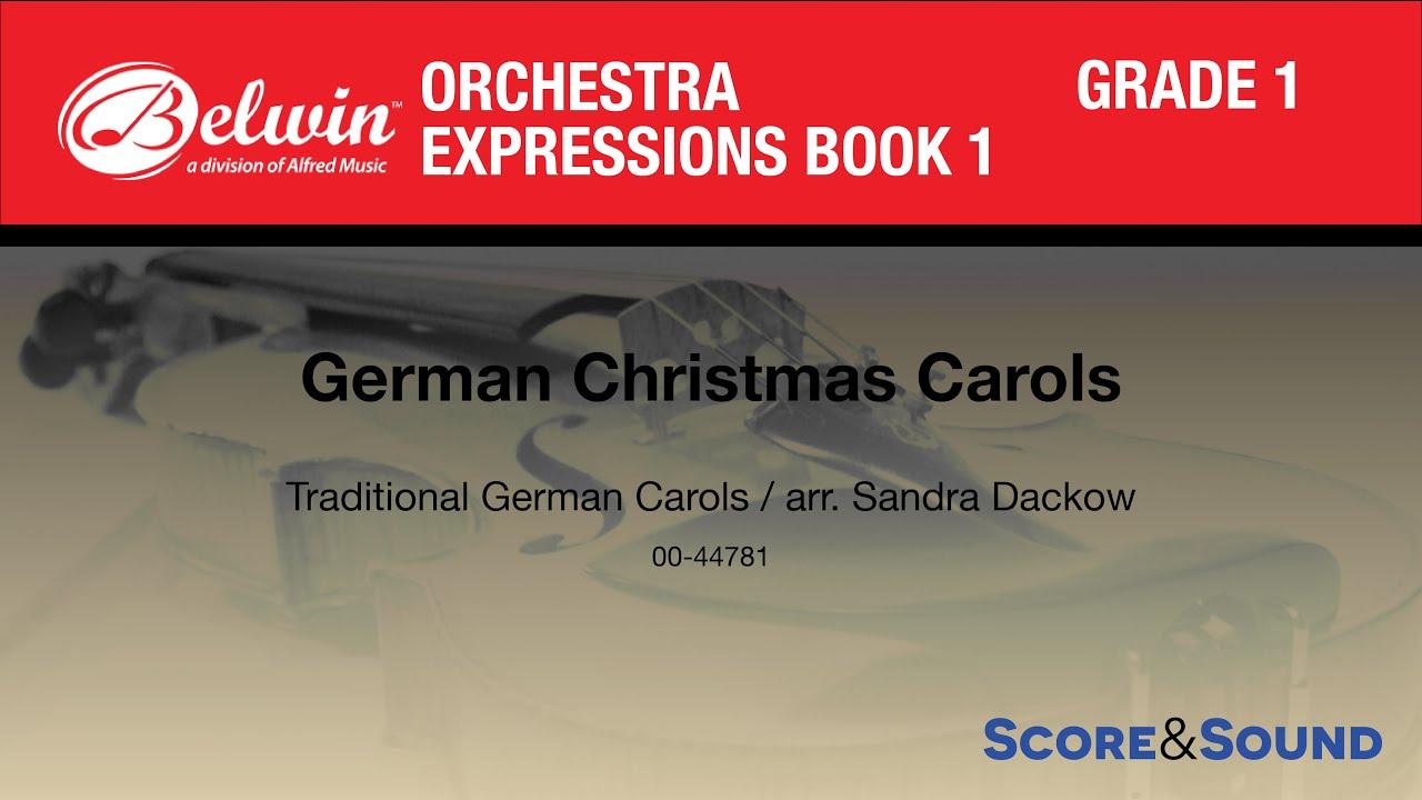 german christmas carols arr sandra dackow score sound