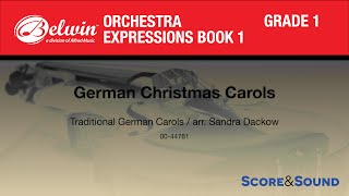 Download German Christmas Carols arr. Sandra Dackow - Score & Sound MP3 song and Music Video