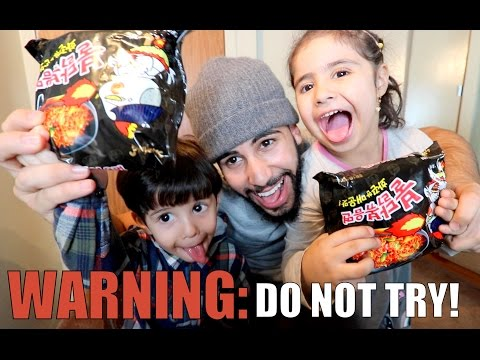 SPICY KOREAN NOODLE CHALLENGE!! (WARNING: DO NOT TRY)