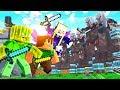 3 NOOBS vs  10 000 ILLAGER BEASTS     Minecraft 1 14