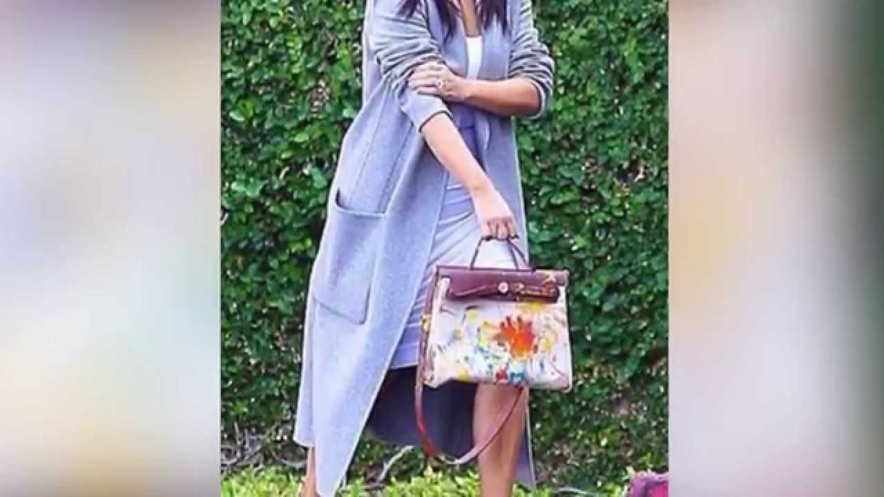 5ad97ae94b Kim Kardashian Shows Off Hermes Bag Painted by North West - YouTube