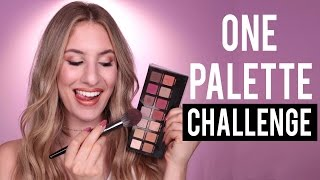 FULL FACE Using Only ONE EYESHADOW PALETTE Challenge | JamiePaigeBeauty