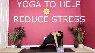 Yoga to Manage and Reduce Stress