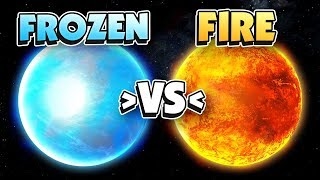 FROZEN PLANET vs BURNING PLANET - Universe Sandbox 2 VR