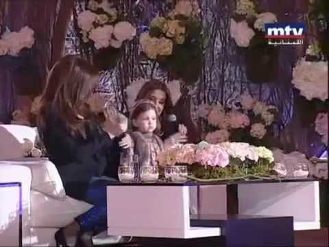 See new Nancy Ajram with her daughter Miela 2014