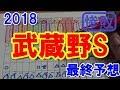 武蔵野ステークス 2018 最終予想 【競馬予想】