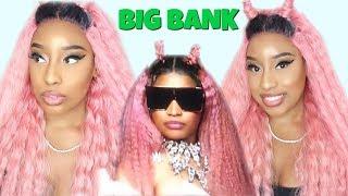 RECREATING NICKI MINAJ BIG BANK LOOK USING A $35 SYNTHETIC LACE WIG! FT. MANE CONCEPT (2018)
