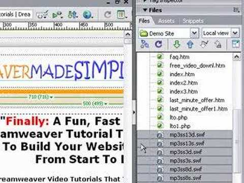 how to add youtube video to website dreamweaver
