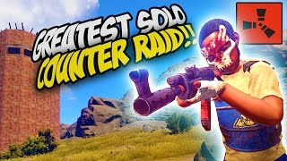 SAVING MY NEIGHBOUR! EPIC SOLO COUNTER RAID! - Rust SOLO Survival Gameplay