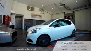 Reprogrammation moteur Peugeot 208 1.6 Blue HDi 120 @ 150 PS - ADP Performance