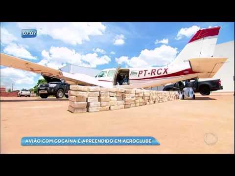Avião com cocaína é apreendido no aeroclube de Goiânia