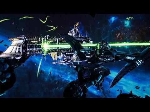 Using Weakest Necron Fleet against the Imperial Navy in Battlefleet Gothic Armada 2  