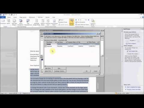 How to use Mail Merge to create letters in Microsoft Word