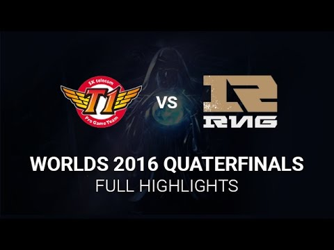 SKT vs RNG Highlights All Games, S6 Worlds 2016 Quarter final, SK Telecom T1 vs Royal Never Give Up