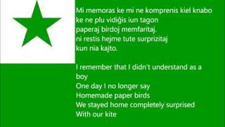Mi Memoras-Kajto Lirikoj kaj Traduko