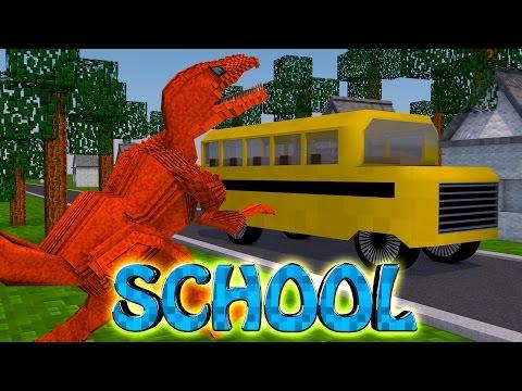 Minecraft School | Military School of Mods - Dinosaurs Take Over Minecraft School! (Dinosaurs)