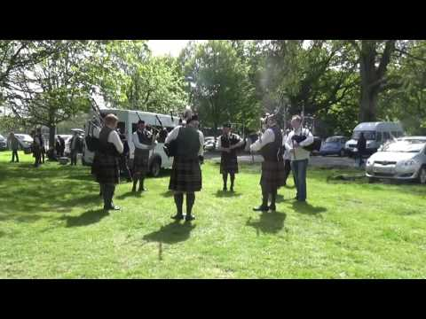 Gillygooly Pipe Band Warming Up @ Ards & North Down Pipe Band Championships 2016