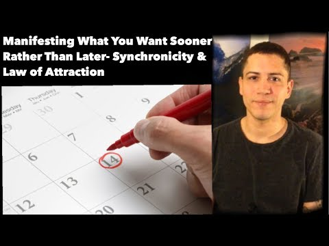 Manifest What You Want Sooner Rather Than Later- Synchronicity & Law Of Attraction