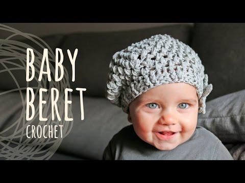 Tutorial Crochet Baby Beret Youtube