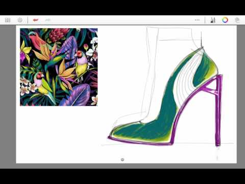 Tropical birds, shoe design, tropical birds / brand: forex