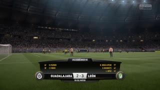 Guadalajara vs Leon Jornada 16 clausura 2017 Liga Mx FIFA 17 simulación en directo
