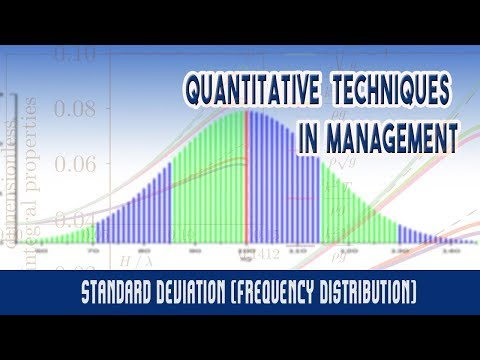 Measures of Dispersion: Standard Deviation (Frequency Distribution)