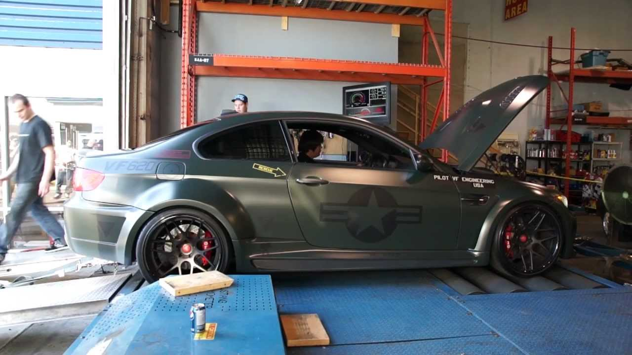 VF Engineering Supercharged Widebody E92 M3 Dyno  YouTube
