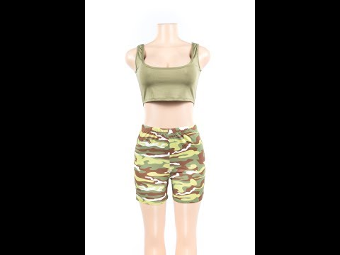 Camouflage printing Europe and the United States sexy two-piece Wholesale