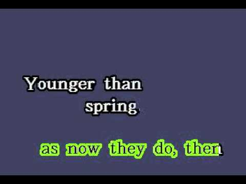DK092 05   South Pacific   Younger Than Springtime [karaoke]