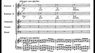 """Pergolesi, Confitebor (salmo 110) - I: """"Confitebor tibi Domine"""" (score)"""