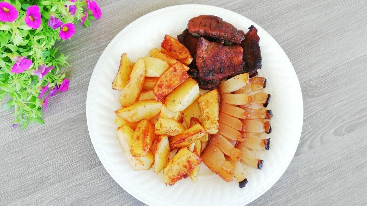 Carne,slanina si cartofi gatite la disc/Carne,pancetta e patate per il barbecue/Barbecue
