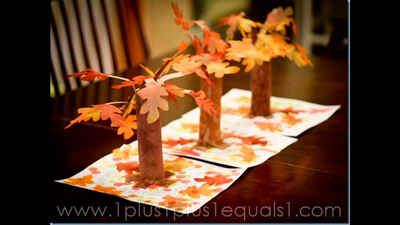 superb Fall Craft Preschool Part - 8: Easy DIY fall craft ideas for preschoolers - YouTube